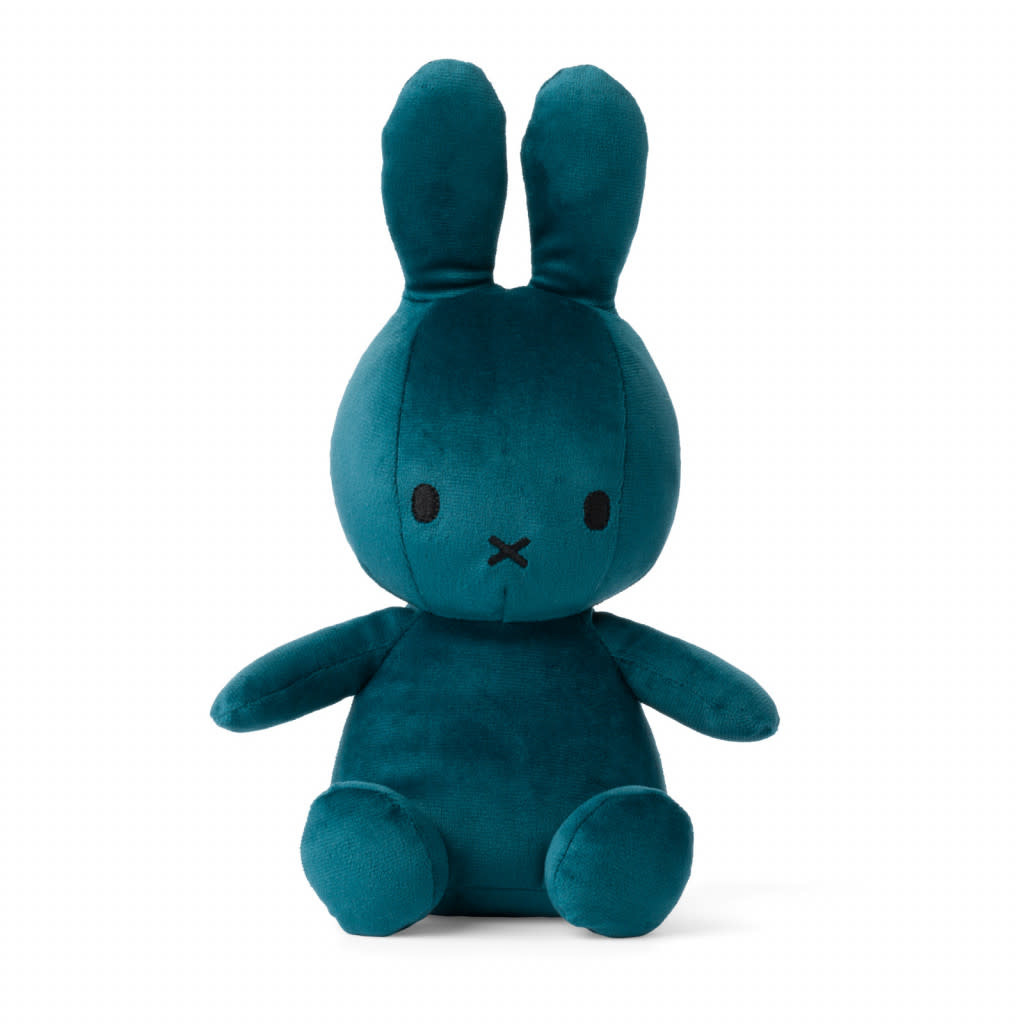 Nijntje/Miffy/Snuffy Miffy Sitting Velvetine Opal Blue - 23 cm
