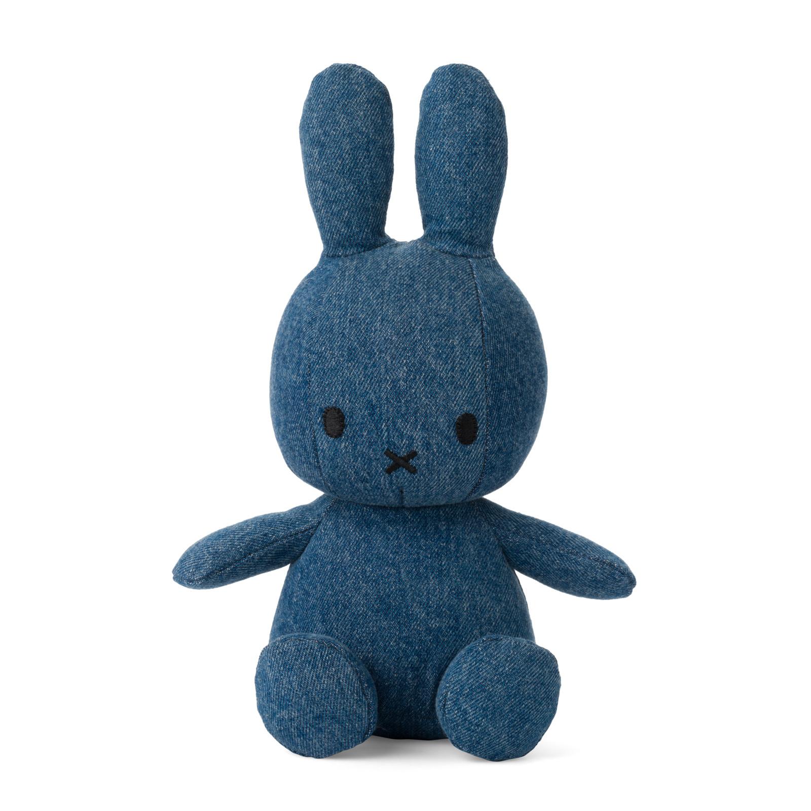 Nijntje/Miffy/Snuffy Miffy Sitting Mid Wash Denim - 23 cm