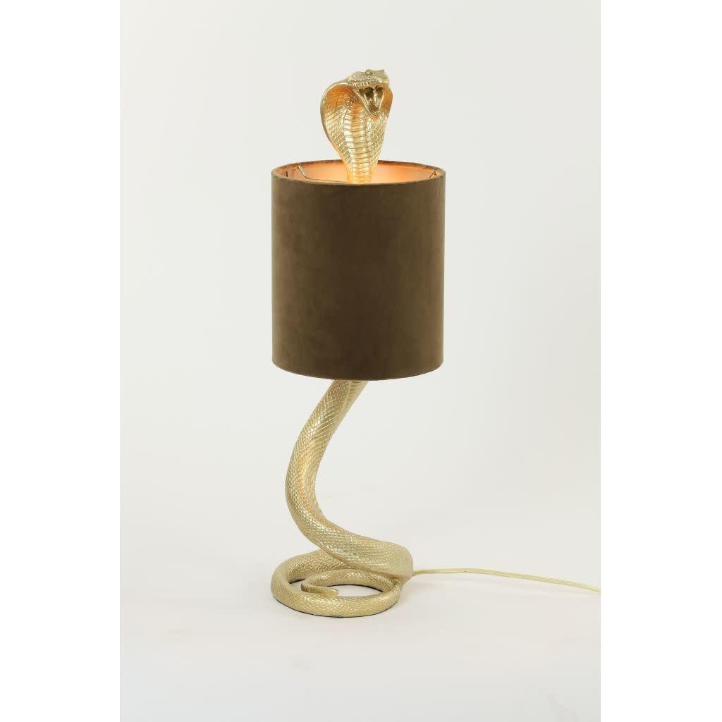 Tafellamp Cobra Slang Goud 20x19x58 cm