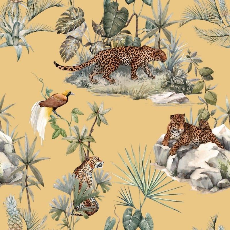 DS Lampenkap  Yellow Leopard