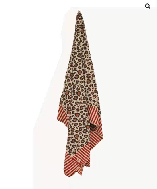 Doing Goods Doing Goods Leopard Single Plaid  Cotton 140x220cm