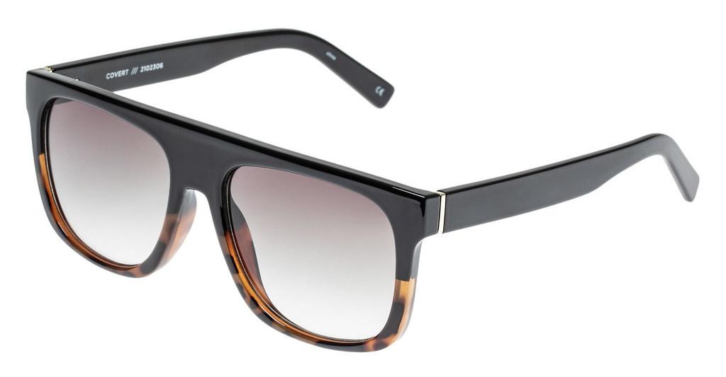 Le Specs Le Specs Covert Black Tort Splice w/Khaki Grad lens