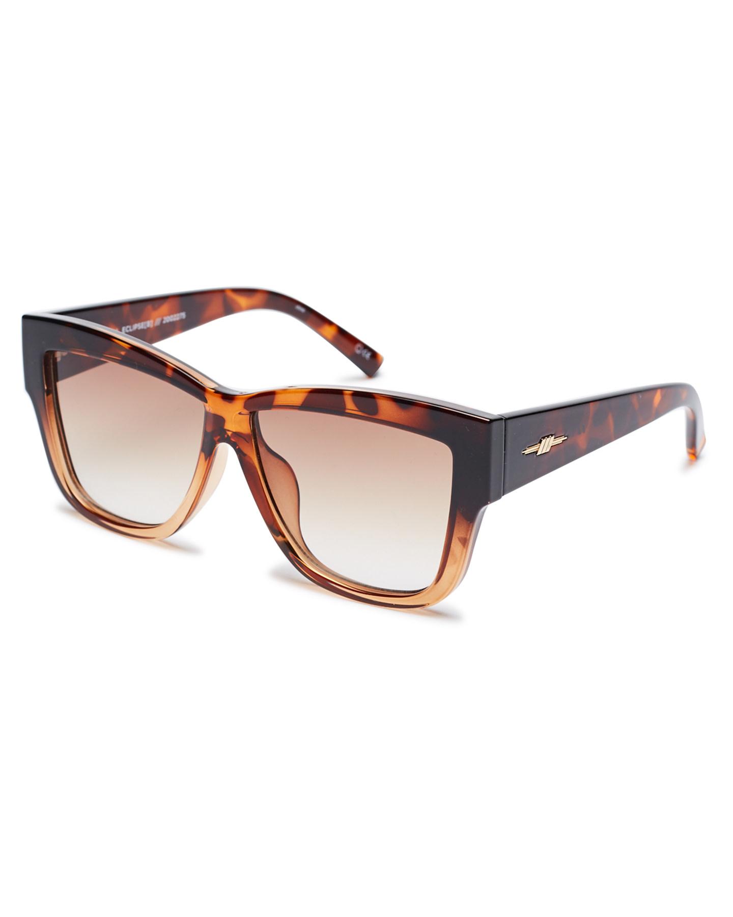 Le Specs Le Specs Total Eclipse Tortoise Tan Grad w/Brown Grad