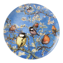 Melting Pot Amsterdam Wandbord Vogels van Gogh H 3,5 cm, Ø 31 cm