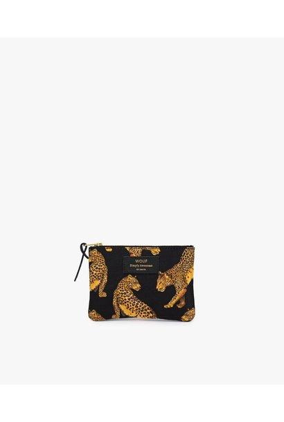Wouf Black Leopard S Clutch