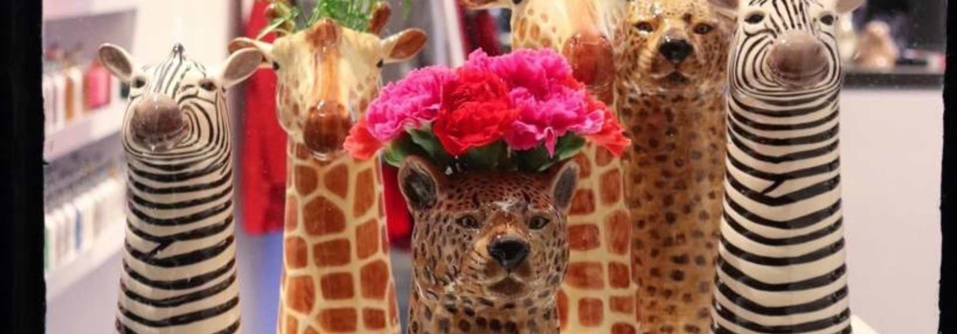 Wild Animal Vase