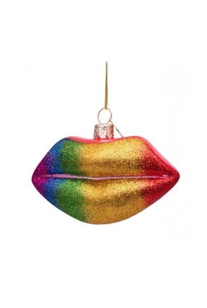 Vondels Regenboog Glitter Lippen Multi