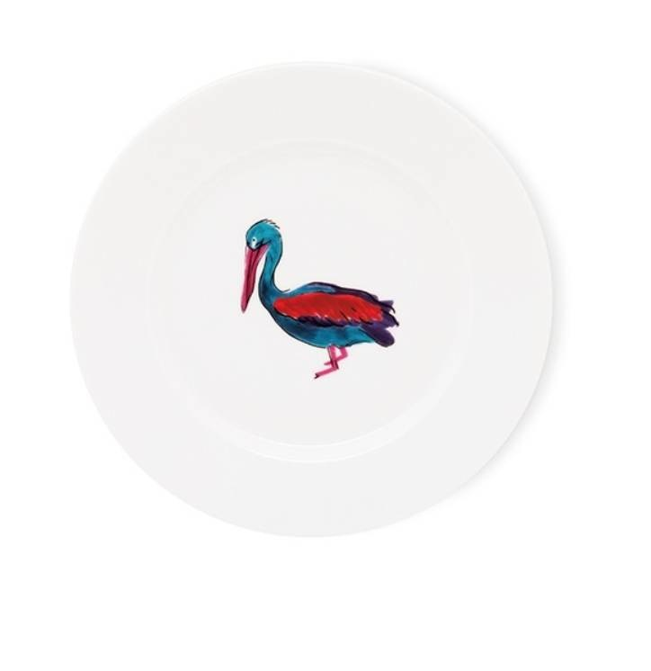 Fabienne Chapot Cake Plate Pelican 17 Cm-1