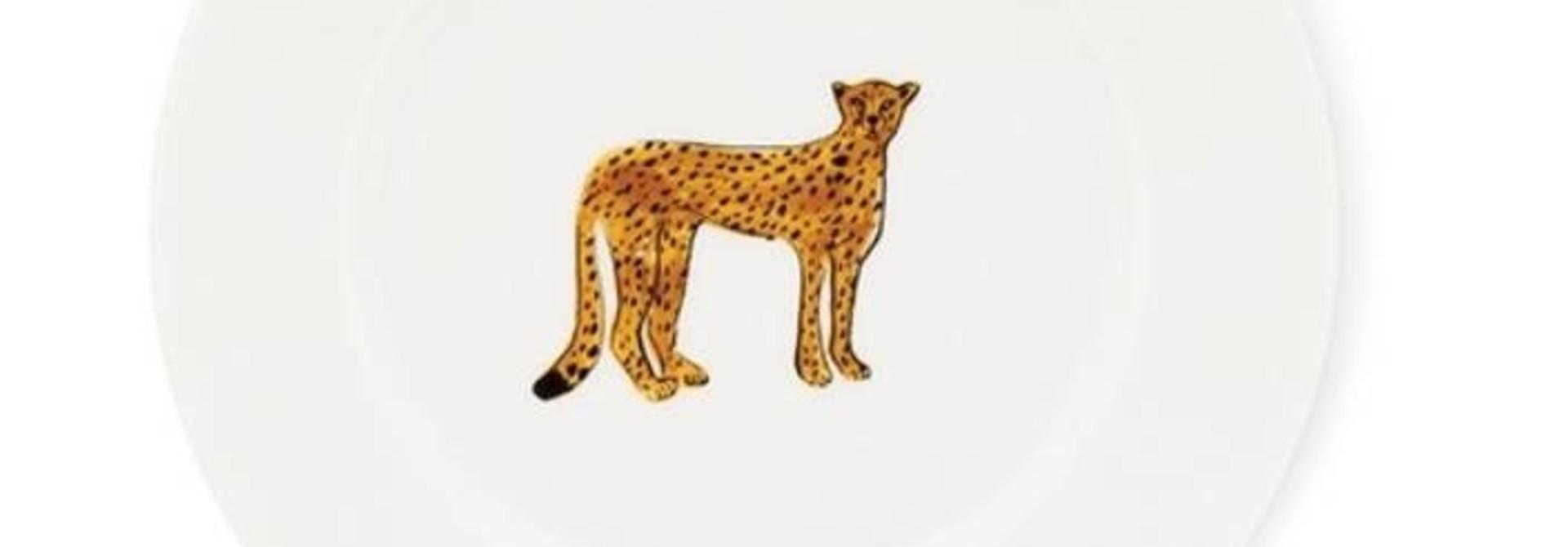 Fabienne Chapot Cake Plate Cheetah