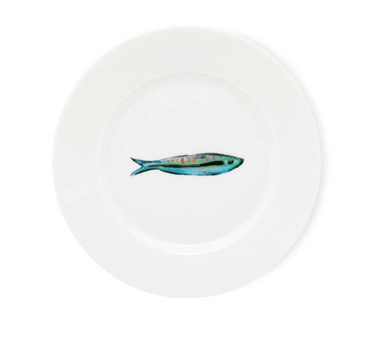 Fabienne Chapot Cake Plate Sardines 18 Cm-1