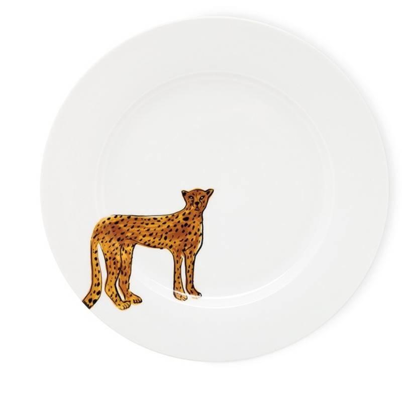 Fabienne Chapot Dinner Plate Cake Plate Cheetah 27 Cm-1