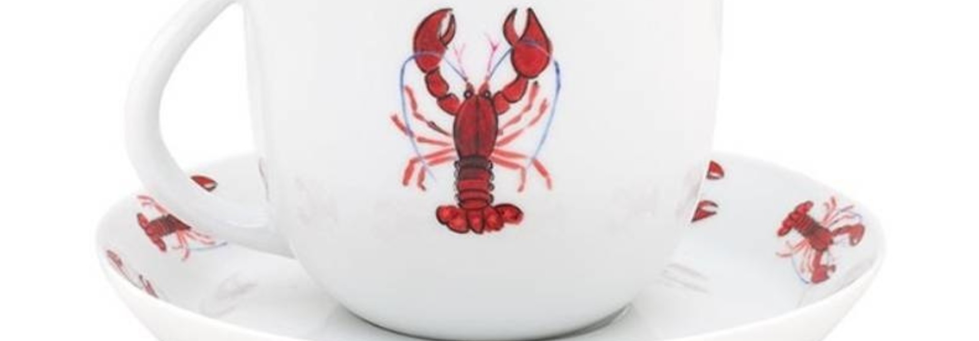 Fabienne Chapot Cappuccino Cappuccino Cup & Saucer Lobster