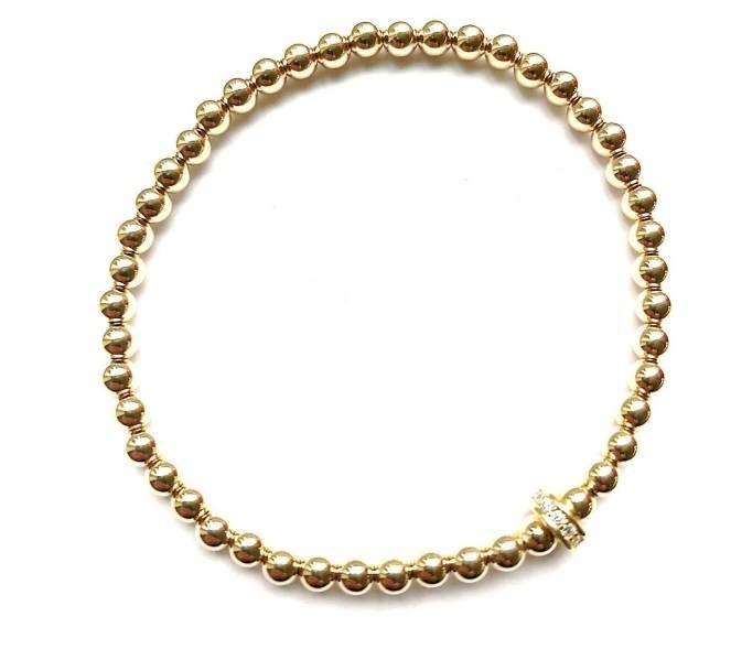 Gold strass bracelet-1
