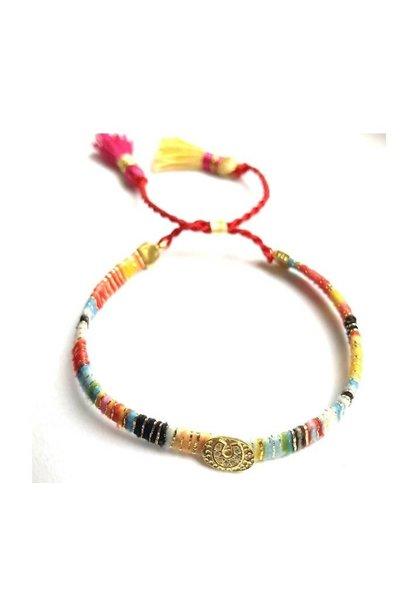 Ps Call Me Multi Yellow Bracelet