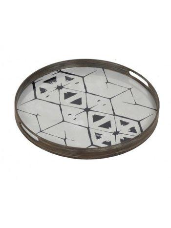 Tribal hexagon glass tray