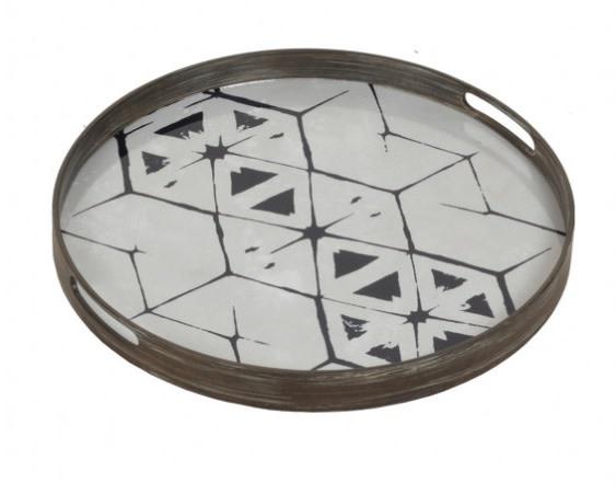 Tribal hexagon glass tray-1