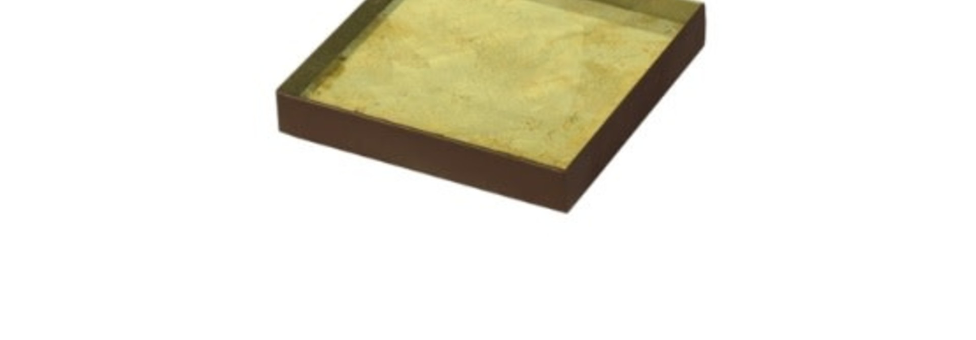 Gold leaf glass tray square