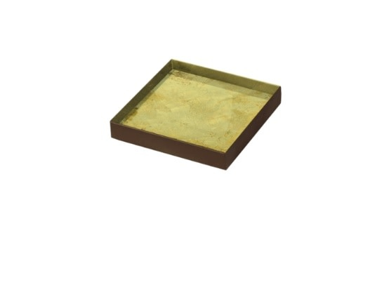 Gold leaf glass tray square-1