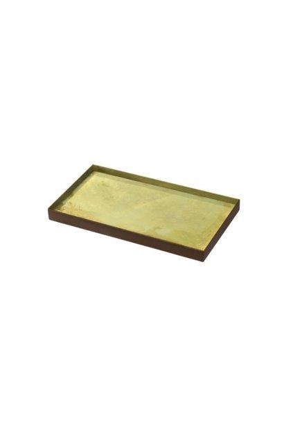 Gold leaf glass tray 31x17x3