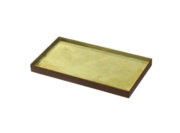 Gold leaf glass tray-1
