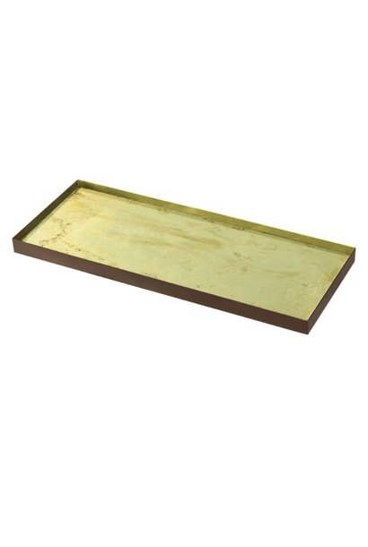 Gold leaf glass tray