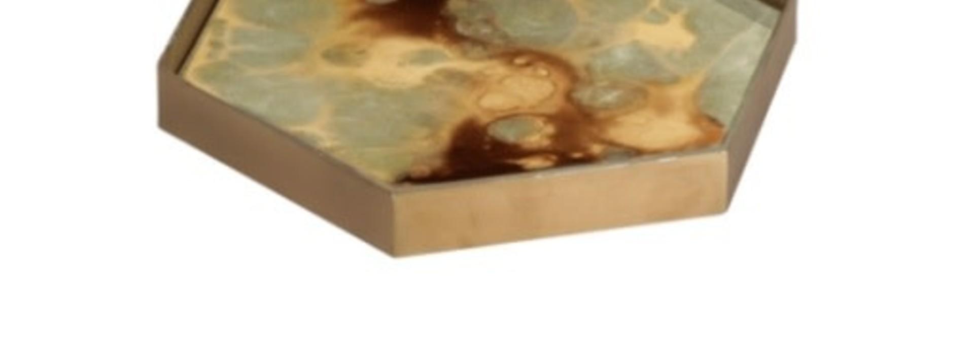 Moss organic mini glass tray