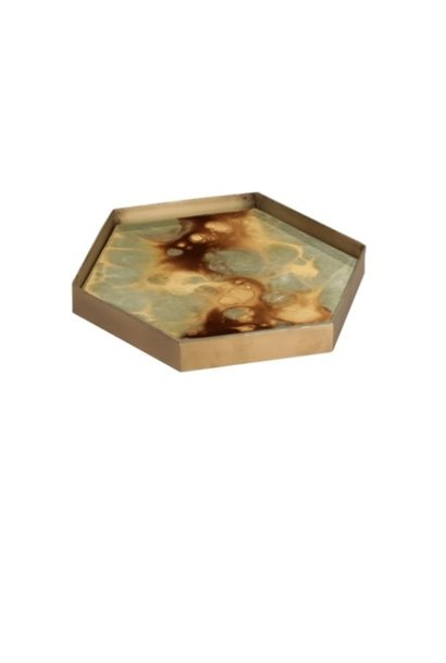 Moss organic mini glass tray
