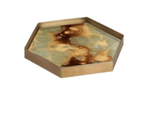 Moss organic mini glass tray-1