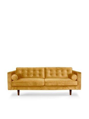 Ethnicraft N101 Sofa gold velvet