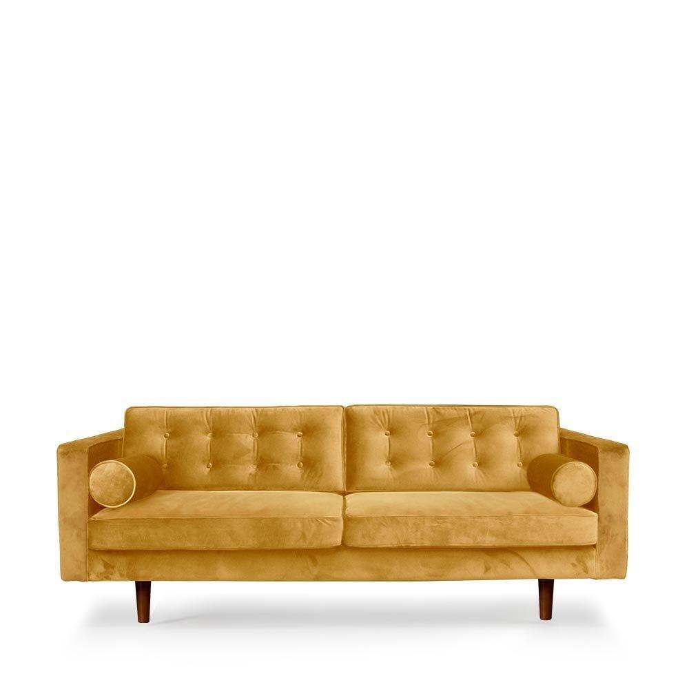 Sofa gold velvet-1