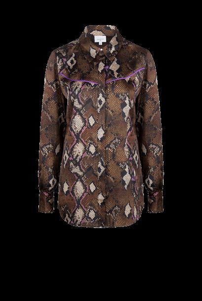 Faith print blouse