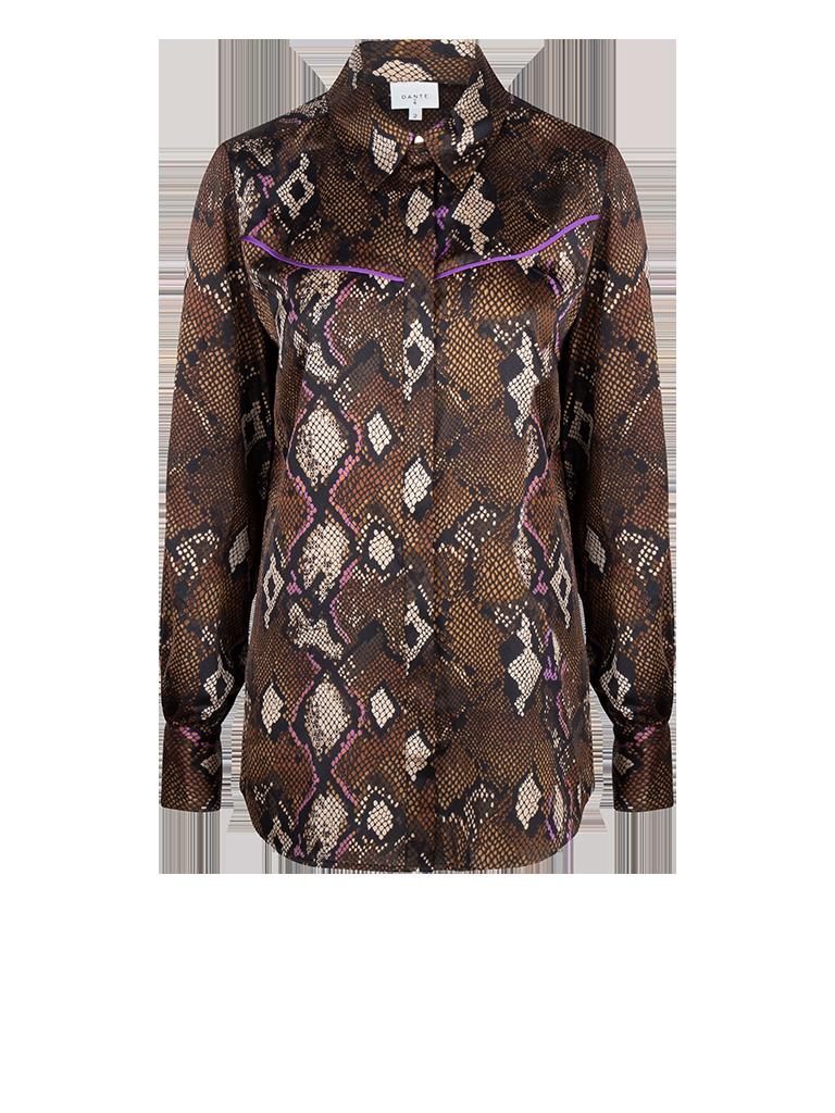 Faith print blouse-1