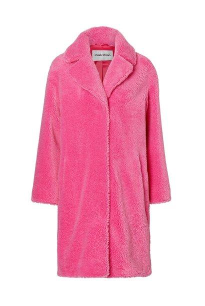 Teddy coat neon pink