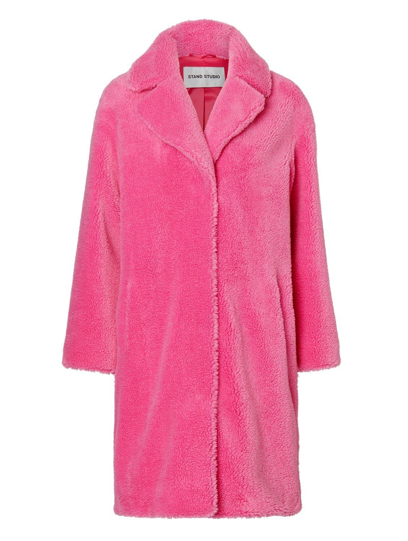 Teddy coat neon pink-1