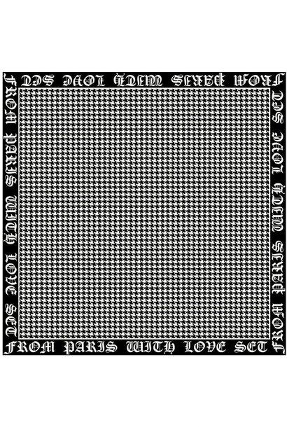 Scarf small black/white