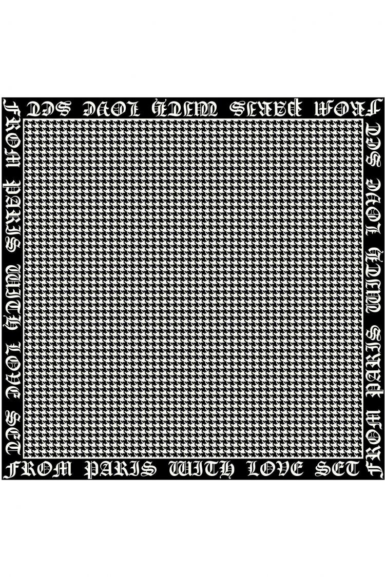 Scarf small black/white-1
