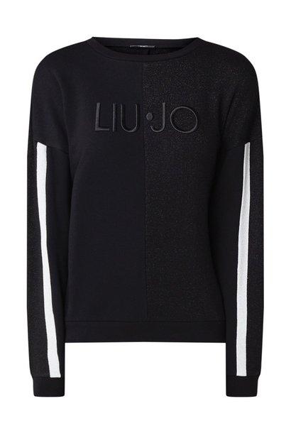 Sweater black/silver metallic