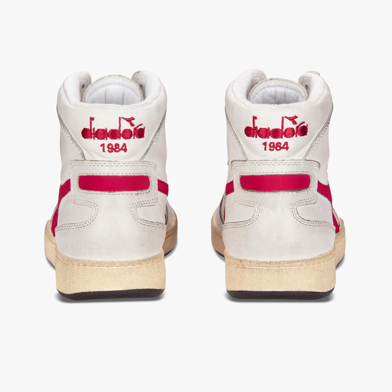 Sneaker basket white/garnet-4