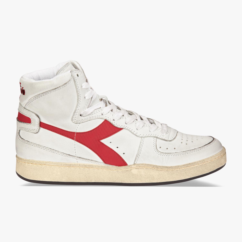 Sneaker basket white/garnet-2