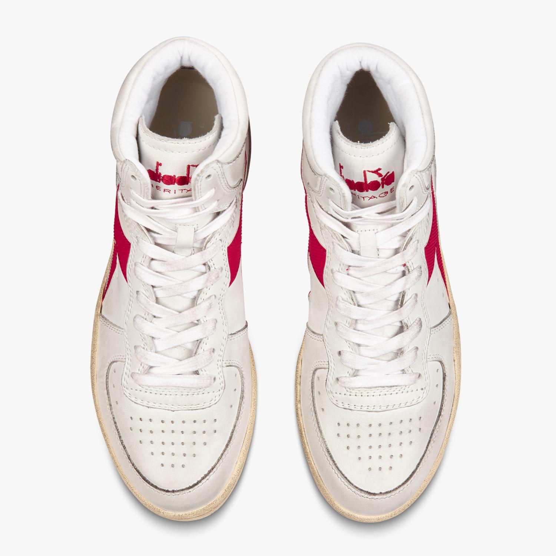 Sneaker basket white/garnet-3