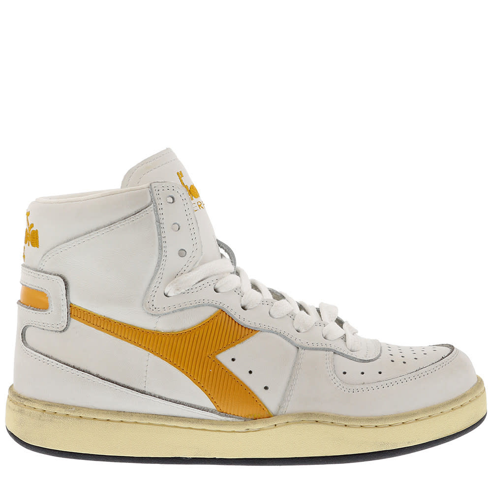 Sneaker basket yellow-1