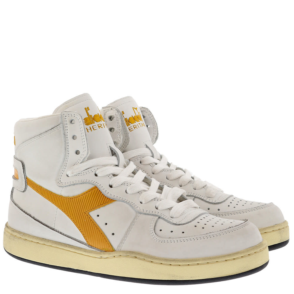 Sneaker basket yellow-2