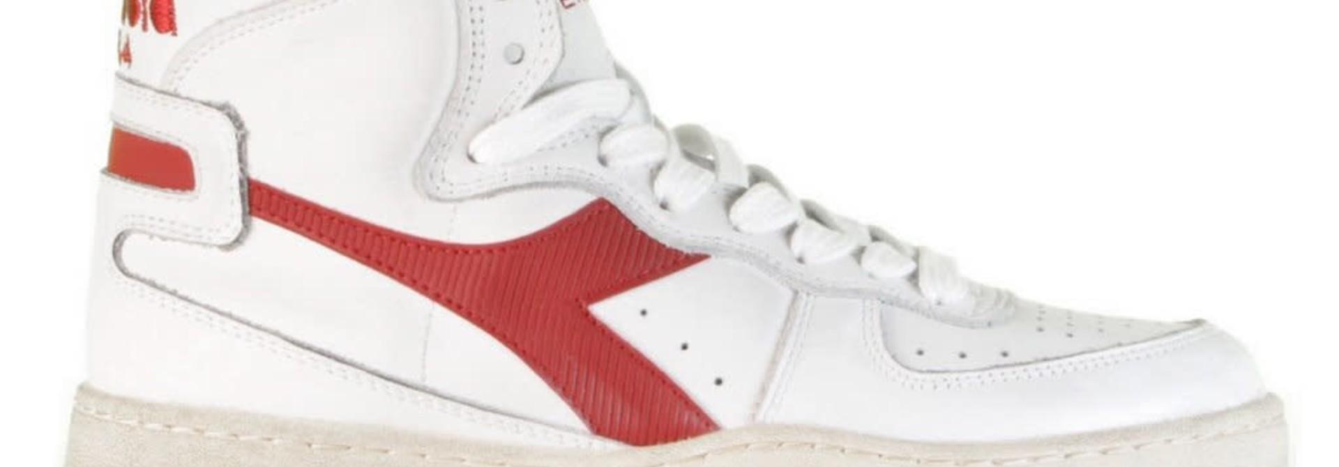 Sneaker basket white/garnet
