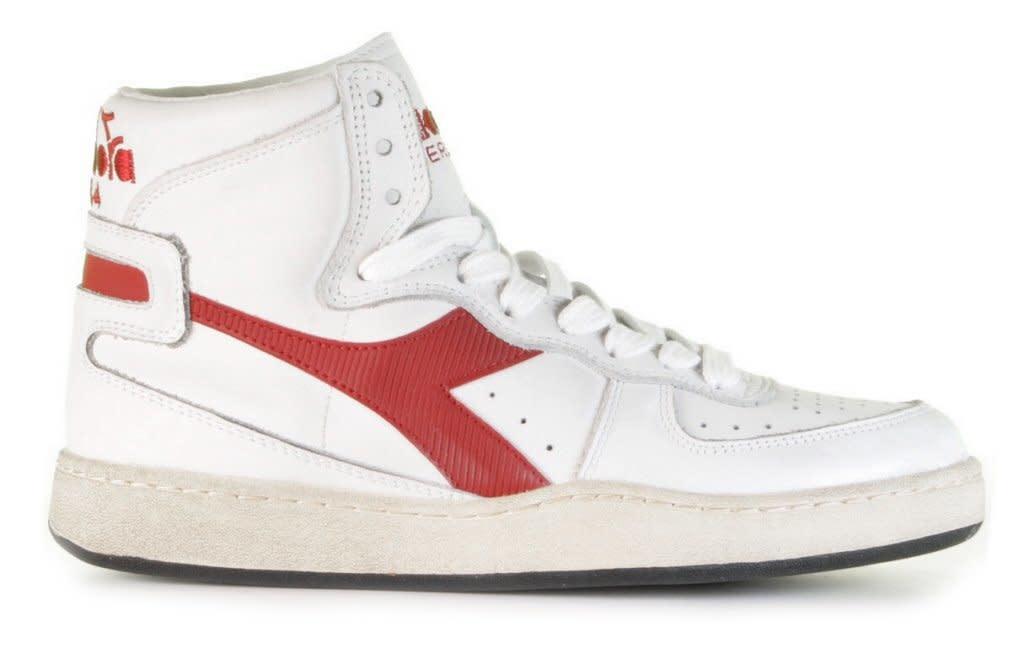 Sneaker basket white/garnet-1
