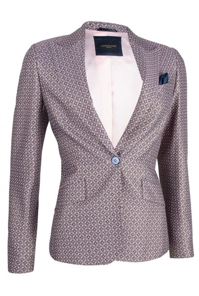 Blazer cosa pink with print