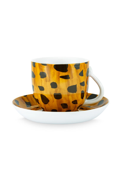 Cup & Saucer Cheetah Spots 280ml