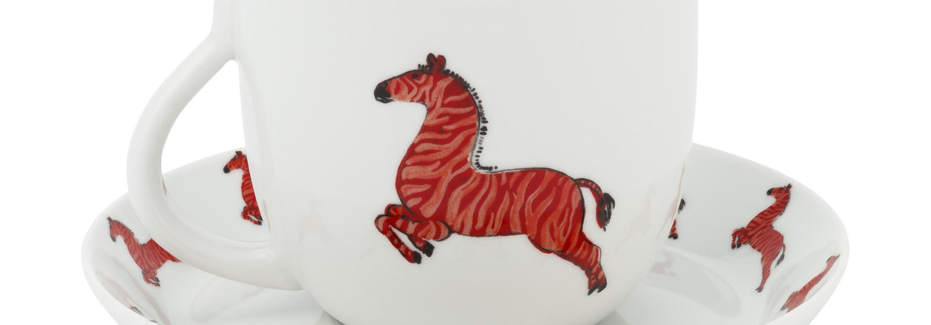 Cup & Saucer Zebra 280ml