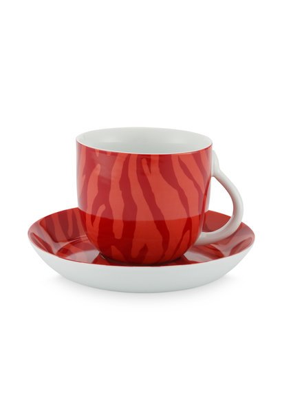 Cup & Saucer Zebra Stripes 280ml