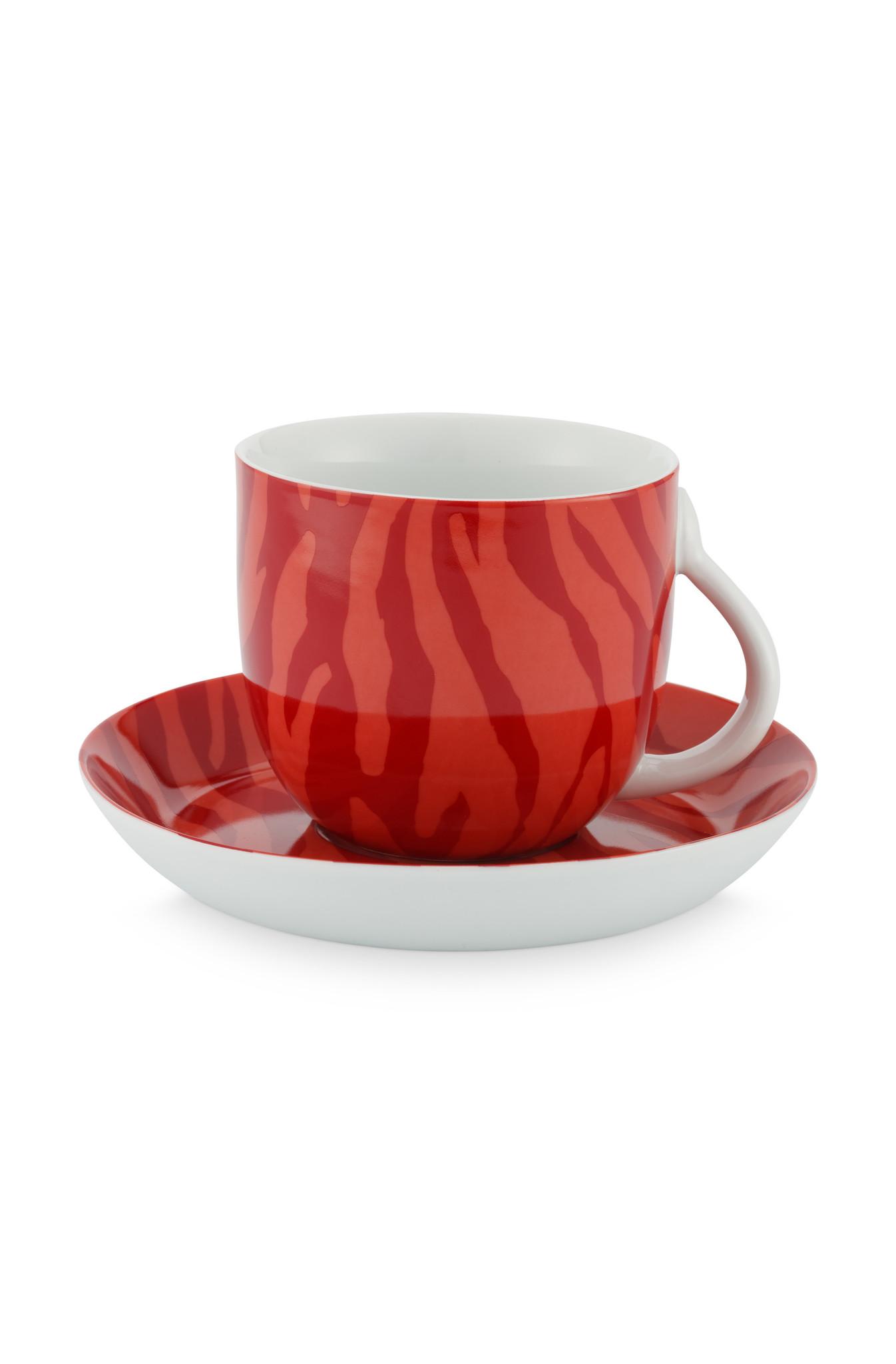 Cup & Saucer Zebra Stripes 280ml-1