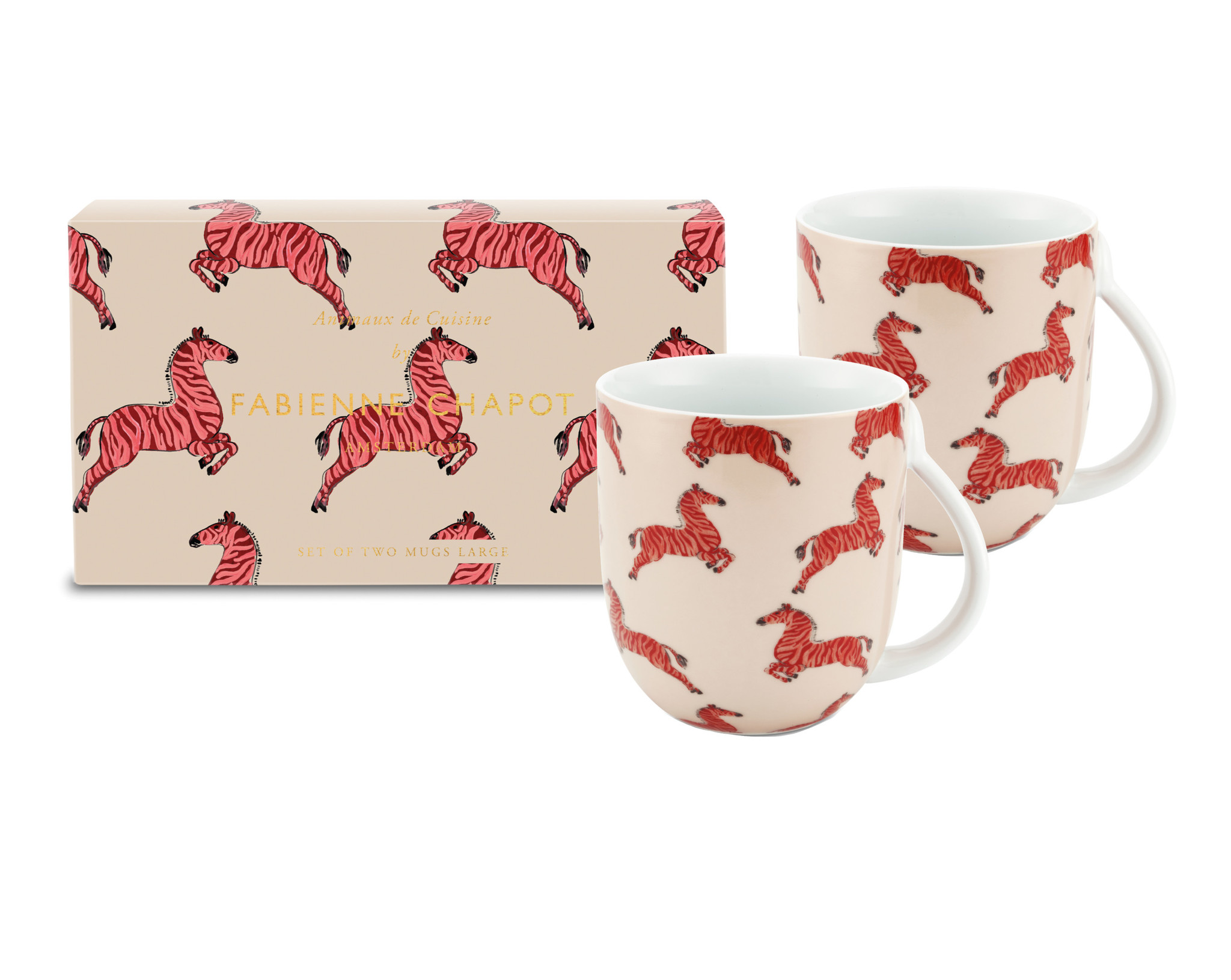 Set/2 Mugs Large Zebra-1